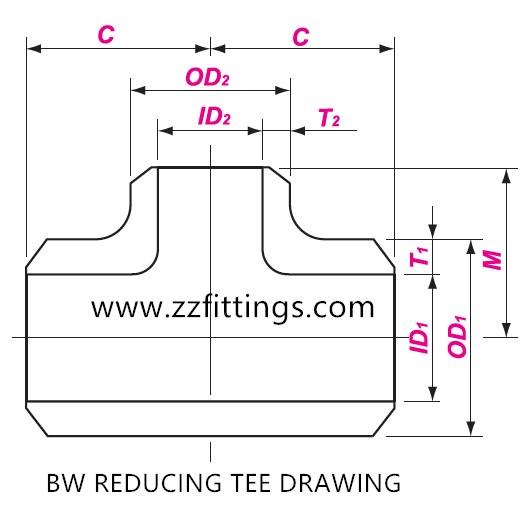 A234 Wpb Reducing Tee  U0026 Equal Tee